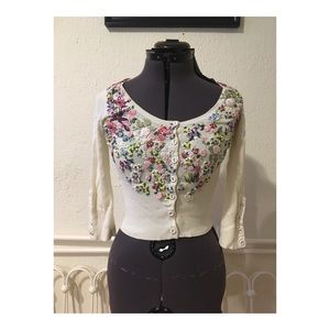 Beautiful Embroidered Vintage Style Cardigan